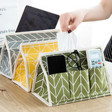 Creative Linen Cloth Tissue Box Multifunctional Six-pocket Drawer Box Desktop Storage Box