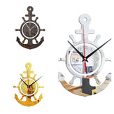 3D Anchor Helmsman Sailor Pirate Ship Mediterranean Style Wall Personality Clock