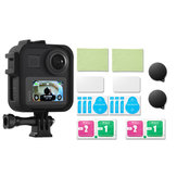 Protective Case Shell Frame Lens Cap 9H Tempered Film for GoPro Max Action Sports Camera