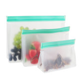 3 Sizes Ziplock Food Storage Bag Reusable Seal Fresh Keeping Fruit Snack Holder