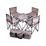 3Pcs/5Pcs Outdoor Portable Folding Table & Chair with Storage Bag