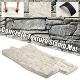 Slate Seamless Texture Polyurethane Stamp Mat Concrete Cement Stone Wall Mat Cement Brick Mold