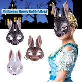 3Type Halloween Coniglio Coniglio Orecchie lunghe Maschera Decorazioni animali fatte a mano Maschera 3D Carnevale Donna Ragazza Maschera Festa Cosplay Coniglio Coniglietto pasquale Costume Cosplay Festa Mardi Gras