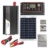 10A-60A Soalr Charge Controller DIY Solar System Kit 1000W Solar Inverter With Solar Panel Solar Power System Set