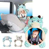 Specchietto retrovisore per sedile di sicurezza per bambini Specchietto retrovisore per automobile Vista neonato Neonato con rivestimento posteriore