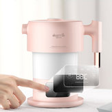 Deerma DEM-F300 100-240V Pink Digital Screen Folding Portable Electric Kettle for Travel