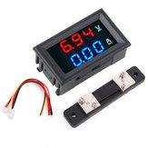 5pcs 0.56 Pouce Bleu Rouge Double LED Affichage Mini Voltmètre Numérique Ampèremètre DC 100 V 50A Panneau Amp Volt Tension Tension Current Meter Tester