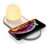 [Carga QI] BlitzWolf® BW-LT26 LED Luz noturna com carregador sem fio 10W Qi Type-C Lâmpada destacável magnética de carregamento