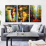 Miico Hand Painted Three Combination Decorative Paintings Watercolor Painting Wall Art For Home Decoration