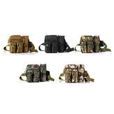 HENGJIA Nylon Camouflage Fishing Bag Fishing Tools Bag Outdoor Multifunctional Waist Bag