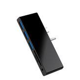 ROCKETEK SGO771 Surface GO Hub 3 * Hubs USB 3.0 Leitor de cartão SD Surface GO Adapter com 2 slots para cartão SD Porta de áudio de 3,5 mm