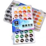 Memory 36 Colors Gouache pigment Set Art Travel Portable Solid Watercolor Paint Cakes Kit For Kids Water color Paint Set