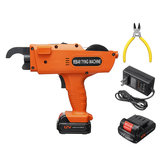12V 8-34mm Automatic Rebar Tier Handheld Tool Building Tying Strapping Machine w/ Lithium Battery