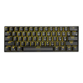 Royal Kludge RK61 Bluetooth Wired Dual Mode 60% Golden / Ice Blue Baggrundsbelyst mekanisk gaming-tastatur