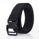 Men Plate Buckle Canvas Belt