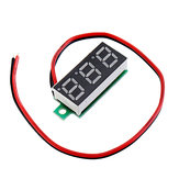 5pcs 0.28 Inch Two-wire 2.5-30V Digital Green Display DC Voltmeter Adjustable Voltage Meter