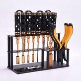 Parafusos de rack de armazenamento de ferramentas YUNZHONG Organizador de garagem Suporte de chave de fenda de metal