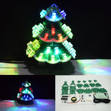 Geekcreit® DIY Creative Remote Control Colorful LED Music Christmas Tree Kit Holiday Decoration Small Gifts