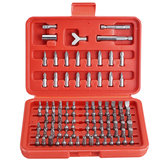 Drillpro 100 pcs Tournevis Embout Set Embout De Sécurité Set Chrome Vanadium Acier Assortiment Set Embouts Carrés À Vis