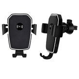 WIS 10W 2 in 1 Qi Wireless Fast Charging Car Charger Mount Phone Holder Air Outlet Bracket