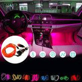 DC12V 5M flexibele neon EL draad LED-strip licht auto-interieurdecoratie lamp + driver