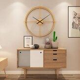 50 cm grande orologio da parete moderno doppio anello vuoto Home Bedroom Bar Hotel Decor
