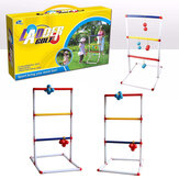 Light-Up Ladder Ball Toss Set with 8 Balls Outdoor Backyard Lawn Toss Toys