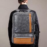 MännergroßeKapazitätPULederMultifunktionsrucksack Tasche