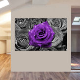 Abstract Modern Purple Rose Flowers Canvas Art Paintings Picture Print Oil Home Wall Decor Unframed