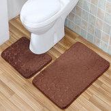 2 STÜCKE Rutschfeste Wc-abdeckung Teppiche Badematte Set Bad Dusche Badezimmer Boden Teppich