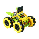 ELECFREAKS DIY Micro: bit Graphic Program Stick مراقبة ذكي RC Robot Car with 80mm Omni Wheels متوافق with LEGO
