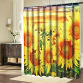 Bathroom Mildew-proof Waterproof Shower Curtain with 12 C-type Hooks