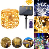 12M 22M Remote Control LED Solar String Light 8 Modes IP65 Waterproof Christmas Holiday Lamp Decor
