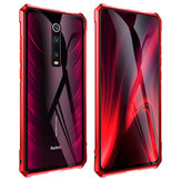 Bakeey Luxury Aluminum frame Metal Bumper&Tempered Glass Back Cover Protective Case for Xiaomi Mi9T / Mi 9T PRO / Redmi K20 / Redmi K20 Pro