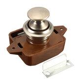 Chiusura a pulsante dell'armadio dell'armadietto con pulsante serratura Manopola per camper e roulotte Manopola marrone