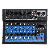 8 canali 48V bluetooth digitale Microfono Console di missaggio audio Potente amplificatore per mixer audio professionale per karaoke