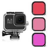 Purple/Red/Pink Diving Lens Filter for GoPro Hero 8 Black with Waterproof Protective Case