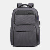 Men Multi-layer Waterproof USB Backpack Handbag