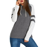 Long Sleeve Crew Neck Stripe Striped Casual Sweatshirts