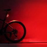 ROCKBROS 500mAh Красный Светодиодный USB аккумуляторная велосипедная задняя фара Водонепроницаемы MTB LED Предупреждение о верховой езде Задний фон