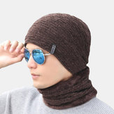 Men's Thickening Earmuffs Warm Hat Riding Knit Scarf Hat