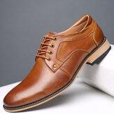 Homens de tamanho grande Vintage Genuiner sapatos de couro de vaca