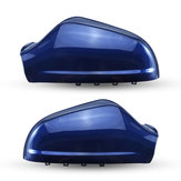 Left/Right Car Rearview Mirror Cover Cap Gloss Blue For Opel Vauxhall Astra MK5 2010-2013