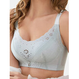 Lace Wireless Full Coverage Lightly Lined Gather Bra