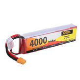 ZOP Power 11.1V 4000mAh 70C 3S Lipo Батарея XT60 Разъем для RC Дрон