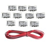 10PCS 2Pin 10mm Connector + 5M Extension Cable Wire for Single Color LED Strip Light