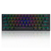 FEKER 60% NKRO bluetooth 5.0 Type-C Gateron Switch PBT Double Shot Keycap RGB Mechanical Gaming Keyboard--Black