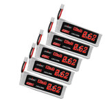 5Pcs URUAV 3.8V 620mAh 40C/80C 1S HV 4.35V Lipo Battery PH2.0 Plug for FPV RC Drone