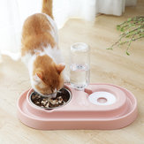 Otomatis Pet Dog Cat Drink Water Dispenser Feeder Food Bowl Dish