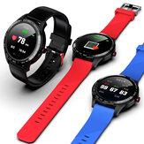 [ECG Monitor] Microwear Bisel de acero inoxidable con pantalla táctil redonda completa L9 Corazón Rate SpO2 Monitor IP68 Impermeable Mensaje Pantalla Reloj inteligente para negocios